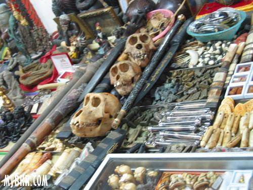 Monkey Skull on sale at the Bangkok amulet market