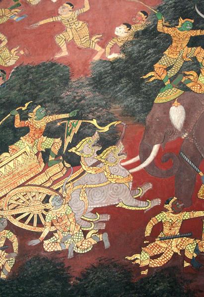 Mural at the Grand Palace
